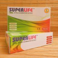 SUPER LIFE™ – Teal Nitrile Examination Gloves Large