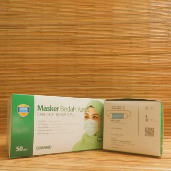 Masker Bedah Karet / Earloop Hijab 3 ply (Blue)