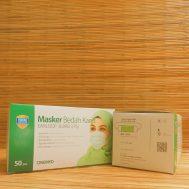 Masker Bedah Karet / Earloop Hijab 3 ply (Green)