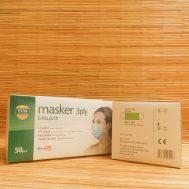 Masker 3 ply Earloop (Green)