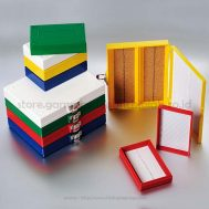 Slide Storage Boxes, 100-Foam Lining, Assorted Colors