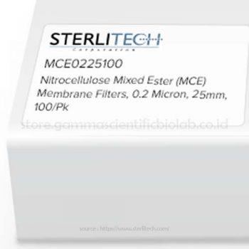 Nitrocellulose Mixed Ester (MCE) Membrane Filters 0,2 Micron, 25mm, 100/pk
