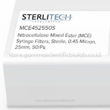Nitrocellulose Mixed Ester (MCE) Syringe Filters, Sterile, 0,45 Micron, 25mm, 50/pk