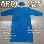 Baju APD Gown Taslan 1 all size fit M Biru