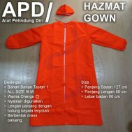 Baju APD Gown Taslan 1 all size fit M Orange