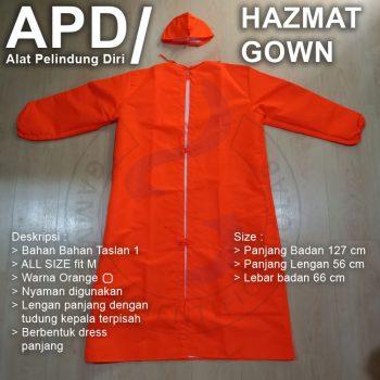 Baju APD Gown Taslan 1 all size fit M Orange